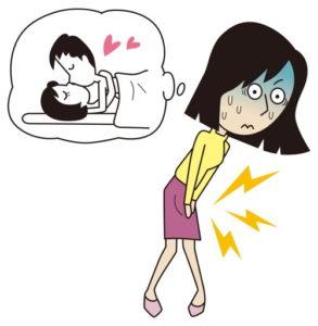 Genitalherpes Frau
